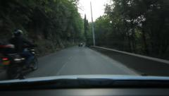 Driving in the south of France. Overtaken by motorcycle. Stock Footage