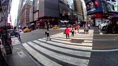 NYC Timelapse Ground - stock footage