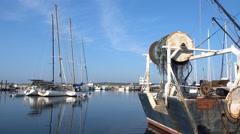 Menemsha Harbor Fishing Boat Stock Footage