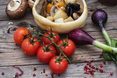 vegetable stir-fry recipe traditional Ukrainian cuisine - stock photo