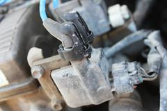 High-voltage wires on the ignition coil - stock photo