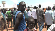 Stock Video Footage of South Sudan Protest Rally