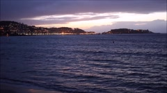 City of Baiona in Galicia, Spain from the beach. Camera not moving. No sound - stock footage