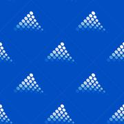 Seamless blue pattern with dotted motif Stock Illustration