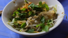 Mixed chicken noodle Stock Footage