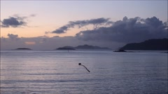 The beach of Baiona, Galicia, Spain Stock Footage