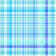 Seamless blue gingham pattern - stock illustration