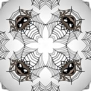 Seamless easter eggs pattern with spiders Stock Illustration