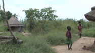 Stock Video Footage of South Sudanese Rural Villagers near JUBA, SOUTH SUDAN