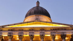 Panning time-lapse of the National Gallery in London Stock Footage
