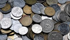 historical coins - stock photo