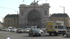Eastern Railway Station in Budapest Hungary 1 Stock Footage