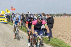Andrea Palini - Paris Roubaix 2014 - stock photo