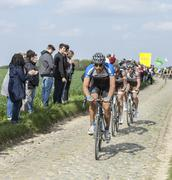 Blaz Jarc- Paris Roubaix 2014 - stock photo
