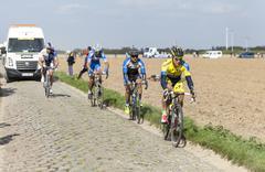 Michal Kolar - Paris Roubaix 2014 Stock Photos