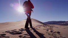 Landscape desert explore travel tourist vacation tropical - stock footage