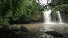 Haew Suwat waterfall Kao Yai national park World Heritage. Stock Footage