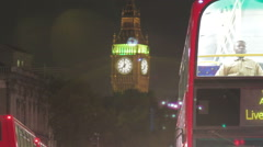 Time-lapse of White Hall road and Big Ben circa October 2011 in London. Cropped. Stock Footage