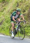 Thomas Voeckler on Col du Tourmalet - Tour de France 2014 Stock Photos