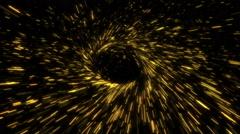 Circular Concentric Radiating Sparks Loop - stock footage