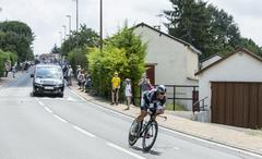 The Cyclist Matteo Trentin - Tour de France 2014 - stock photo