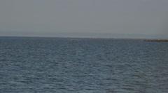 Kiteboarder Sailing Through Frame - stock footage