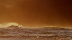 Hawaii sunset Pacific energy surfing tropical tide water - stock footage