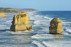 Limestone Stacks, The Twelve Apostles, Princetown, Great Ocean Road, Victoria, - stock photo