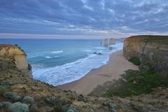 Limestone Coastline, The Twelve Apostles, Princetown, Great Ocean Road, - stock photo