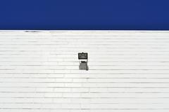 Stock Photo of Brick Wall Painted White with Spotlight, Adelaide, South Australia, Australia