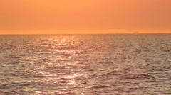 Ocean Horizon Sunset Stock Footage