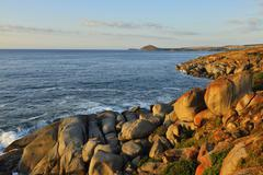 Rocky Granite Coast, Granite Island, Victor Harbor, South Australia, Australia - stock photo
