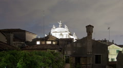 Roof tops of Venice time-lapse. Cropped. Stock Footage