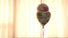 Thinking of You Mylar Balloon Balloons Floating Stock Footage
