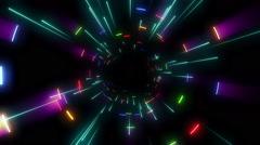 Colorful Rays Vj Loop 05 - stock footage