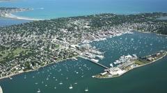 Newport Ri aerial - stock footage