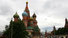 Moscow, Russia. St. Basil Cathedral, Red Square, Moscow Stock Footage