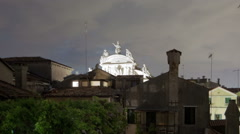 Panning shot of Roof tops of Venice time-lapse. Stock Footage