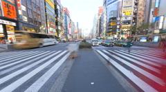 Time lapse Metropolis Ginza night illumination pedestrian zone Tokyo Stock Footage