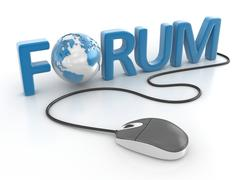 Connect to forum - stock illustration