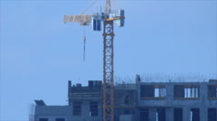 Crane view in heat air Stock Footage
