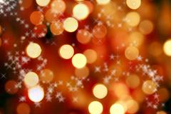 Abstract background of christmas lights and stars Stock Photos