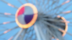Stock Video Footage of Blur or defocus Fun fair or Amusement park.