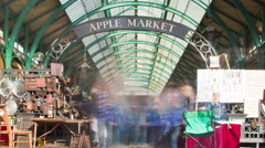 Covent Garden time-lapse in London. Cropped. Stock Footage