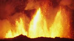 Volcanic Molten Lava Holuhraun Barren Landscape Travel Bardarbunga Iceland Stock Footage