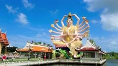 Shiva statue on Koh Samui Stock Footage