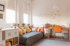 Yellow and orange accessories - stock photo
