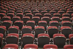 Background Of Auditorium Seats - stock photo