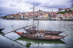 Stock Photo of Two Boats On The Douro River