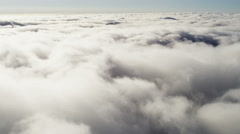 Aerial Flying Above Cumulus Clouds Mid Air Transportation  Altitude - stock footage